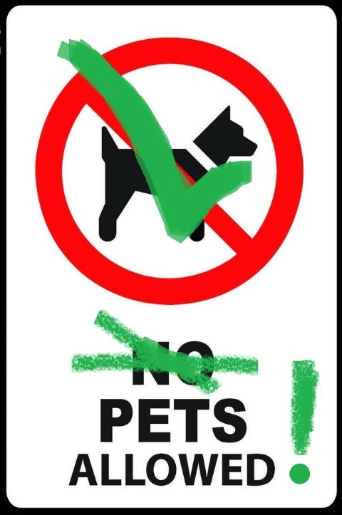 Pets Allowed Sign